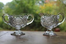 AMERICAN BRILLIANT CUT GLASS SUGAR AND CREAMER