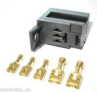 kfz Mini Micro Relais Sockel-Fassung Crimpkontakte Einreihbar car relay socket