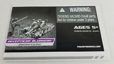 Transformers Revenge of the Fallen Instructions from Bludgeon 2010 Hasbro