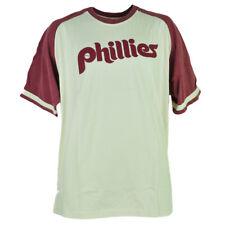 945ad428154 MLB Philadelphia Phillies Mens Adult Tshirt Tee XLarge Beige Cotton Short  Sleeve
