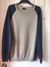 JC @ Debenhams Nice Men Grey Blue Navy Thin Cotton Classic Jumper Sweater L