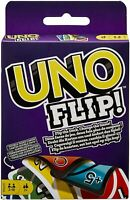 Uno Flip Card Game Mattel Multi Colored Exciting Twists Family Fun Children Pack