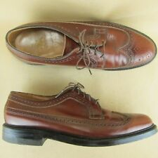 Executive Imperial Long Wing Wingtip Pebbled Oxford Conac US 10 C Men Leather