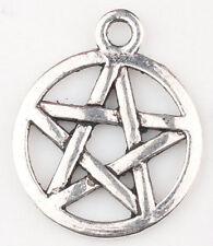 Lot 18pcs Tibet Silver Pentagram Fashion Jewelry Finding Charm Pendants 20x16mm