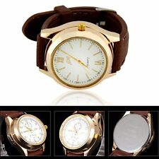 Mens Cool Sports Military Electronic Quartz Wirst Watch USB Cigarette Lighter