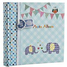 Large Baby Boy Blue Memo Slip in Photo Album 200 15cm X 10cm Photos - Elephant K