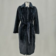 2nd Chapter Dressing Robe Ladies UK 8 Navy Blue Belted Casual Nightwear 280977