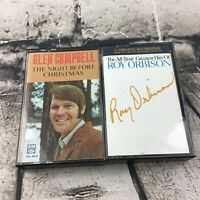 Vintage Country Western Cassette Tapes Lot Of 2 Glen Campbell Roy Orbison