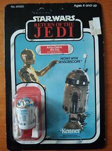 Vintage 1983 Star Wars Return of the Jedi Artoo Detoo R2 D2  Sensorscope Kenner