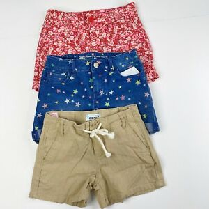 Gap Kids Old Navy Girls Size 8 Summer Shorts LOT Floral Denim Stars Linen