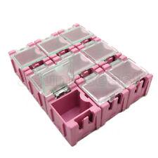50 x Pink Mini Electronic Component Parts Case Box Laboratory Storage SMT SMD