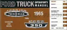 1965 Ford F100 F250 F350 Pickup Truck Owners Manual Custom Styleside Flareside
