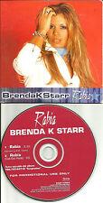 BRENDA K STARR Rabia 2002 USA CARDED SLEEVE PROMO Radio DJ CD Single BrendaK