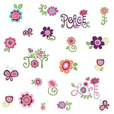 LOVE JOY PEACE 35 BiG Wall Stickers Flowers Girls Room Decor Word Art Decals