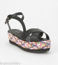 Urban Outfitters Deena & Ozzy Braided Wedge Platform Sandal Shoes Sz 6