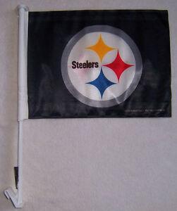 NEW PITTSBURG STEELERS SY CAR WINDOW FLAG genuine NFL licensed