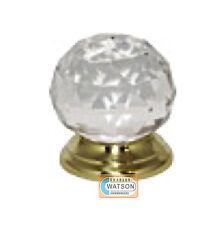Glass Cupboard Door Knob 32mm Ball Handle Polished Brass Backplate