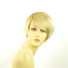 Perruque femme courte blond doré méché blond très clair  YASMINE 24BT613