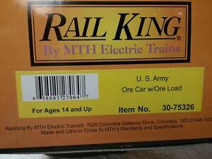 MTH 30-75326 U.S. ARMY ORE CAR w/ORE LOAD, CAR  #8942 NOB