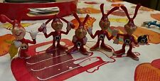 Vintage 1987-1988 Domino's Pizza NOID Bendable Figures Lot of 5 different poses