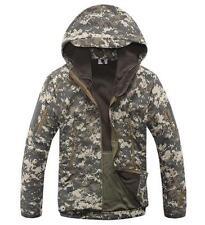 New Men's CAMO Military Fleece Linning Hooded Coat Army Jacket Outweear PARKA