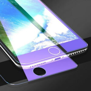 2Pc Blue Ray Tempered Glass Screen Protector For iPhone 11 Pro Max XR X 8 7 XS 6