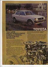 Original 1982 Toyota Corolla Tercel Magazine Ad - A Car For All Seasons