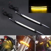 Eagle Lights Black Fork Tube LED Turn Signals Fits all bikes w/ 39mm-60mm forks