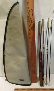 Vintage Zebco Centennial 4 pc. 6' fishing rod W/ Travelers Case