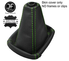 GREEN STITCH TOP GRAIN REAL LEATHER MANUAL GEAR GAITER FOR AUDI A4 B5 1995-2000