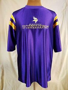 NFL Minnesota Vikings Purple Satin Shirt Size Large Official VF Imagewear