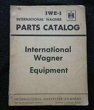 1958 International Harvester Wagner Loader Amp Backhoe Master Parts Catalog Manual