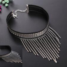 Sexy Long Tassel Fashion Jewelry Black Women Velvet Bib Collar Necklace Choker