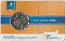 NEDERLAND:  LAATSTE REGULIEREN GULDEN 2001 IN COINCARD (Uitgifte 2015)