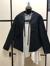 Veritecoeur Japan OS Cotton Midnight Front Open Sailor Collar Crop Jacket