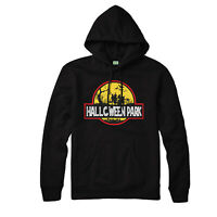 Halloween Park Hoodie, Jurassic Halloween Horror Witches Scary Adult Top