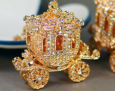 Carro De Cristal Diamante Estrás Real de Oro Bolso Encantos Bolso Llavero