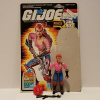 G.I. Joe ARAH 1986 ZARANA Action Figure Complete Full Card Back SUPER NICE+++!!!