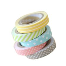 AKORD 5-Piece Mix Designs Adhesive Tape Set for Scrapbooking/Craft, Paper, Multi