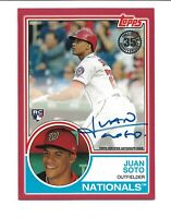 Juan Soto 2018 Topps Update 35th Anniversary RC Auto Red Parallel #/25 Nationals