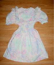 Vtg-Girls-Lace Fitness-Shabby Chic-Floral Flowers Party Photo Dress White Lace-7