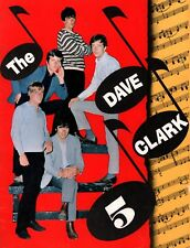 DAVE CLARK FIVE 1965 OVER AND OVER TOUR CONCERT PROGRAM BOOK / EX 2 NMT