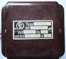 BG 2 TRAFO Nr7036 Bakelitgehäuse Eisenbahn? EE Transformator Transformer Vintage