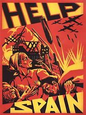 Guerra De Propaganda Luftwaffe Civil Español España Poster De Arte Imagen 1089pylv