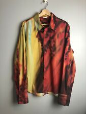 Just Cavalli Mens Pixel Face Button Down Shirt Made In Italy Size 56 XL