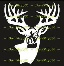Buck-Deer-Elk Head -Hunting Sports- Vinyl Die-Cut Peel N' Stick Decals/Stickers