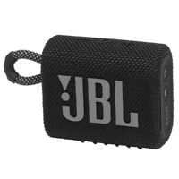 JBL GO 3 Waterproof Dustproof Ultra Portable Bluetooth Speaker (Black)
