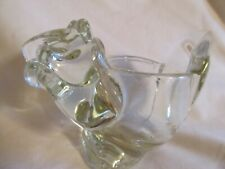 Avon Squirrel Votive Candle Holder Clear Glass / Lead Crystal / Free Shipping