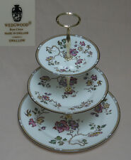 """Wedgwood """"Swallow"""" (Yellow/Brown Trim, R4467) THREE TIER CAKE STAND"""