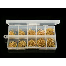 Hot 500Pcs 10 Sizes Fish Fishing Sharpened Hooks With Box Top High Quality FINE